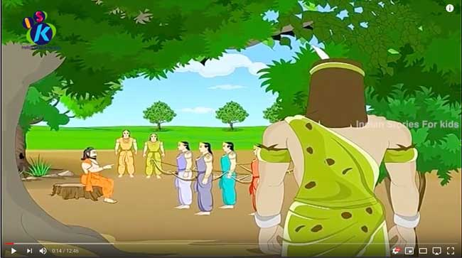 ekalavya_animation_for_children_mahabharat_hindi_01