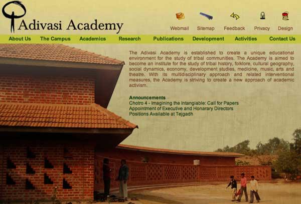 adivasiacademy_website_screen